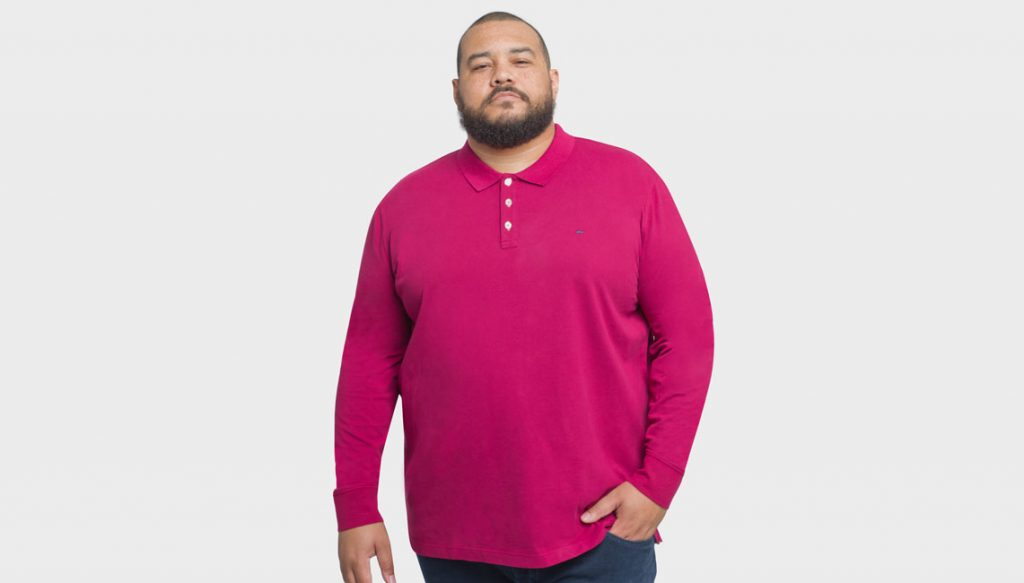 Polo rose Eden Park pour homme grande taille